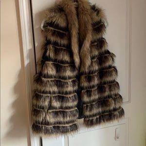 """Chico's size 2 """"fur"""" vest"""